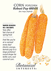 Corn Popcorn Robust Pop 400MR Seeds